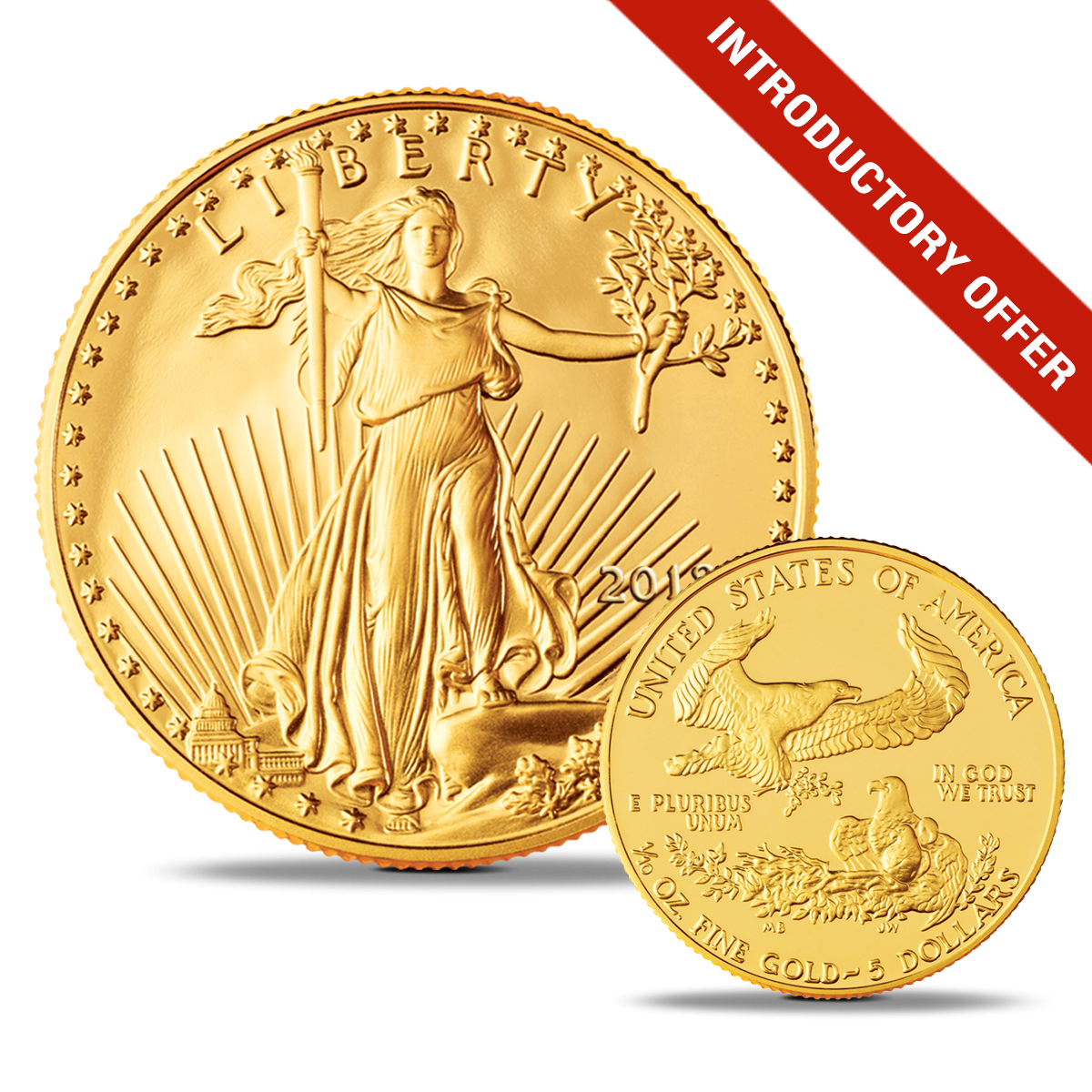 Government Issued 1 10 Oz 5 Gold American Eagles At Cost